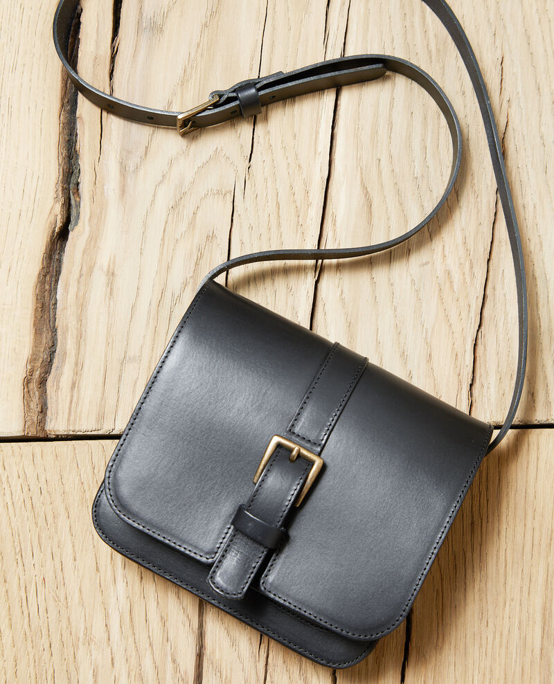 Leather bag Noir Isace