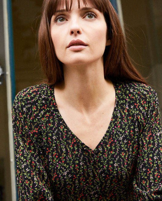Printed blouse DAPHNE NOIR