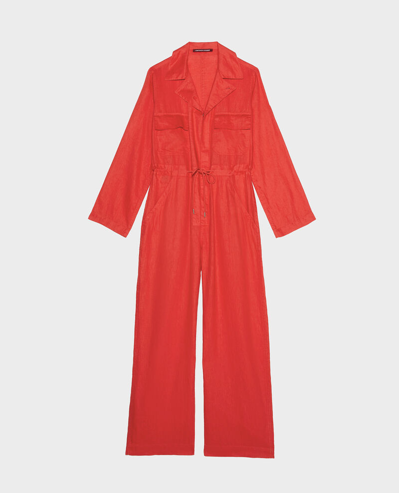 Linen jumpsuit Fiery red Lachassain