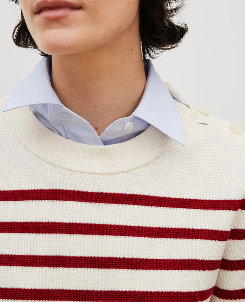 Striped wool jumper Str_jetstream_ry_red Liselle
