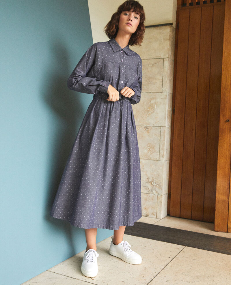 Mid-length dress Blue Goze
