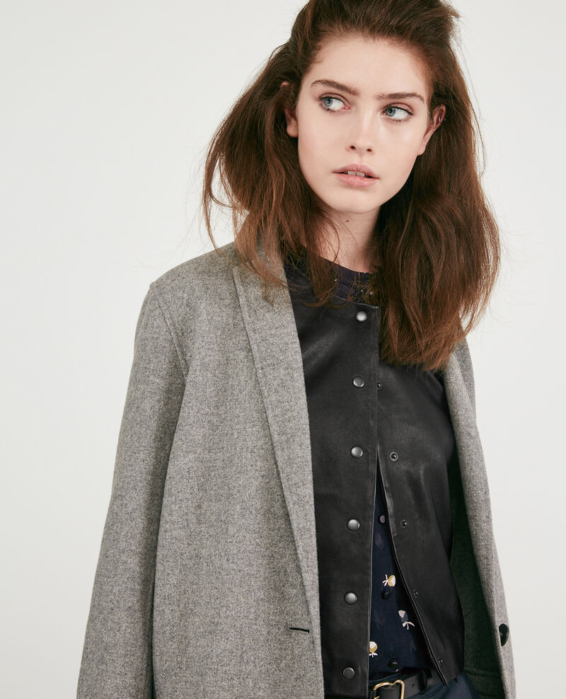 Double-faced wool coat Medium heather grey 9dexpresso