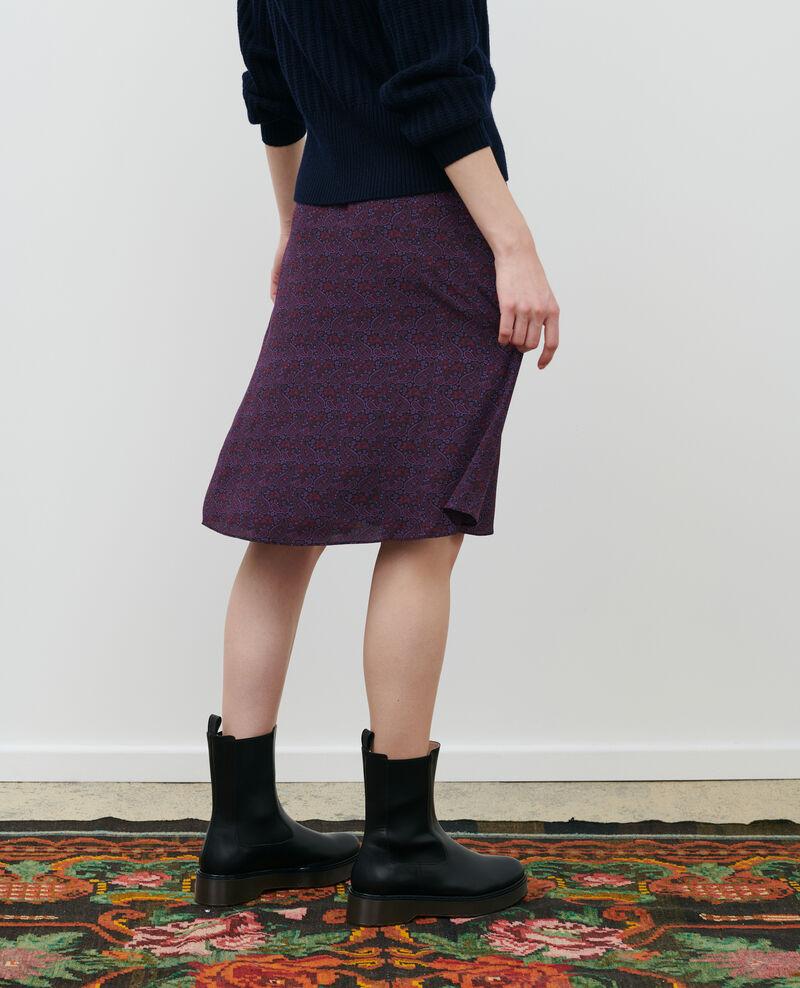 Silk skirt Paisley purple Pirma