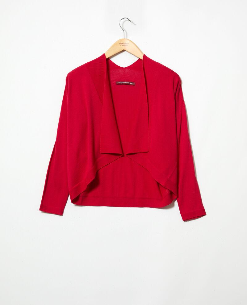 3D cotton short cardigan Fushia Ijape