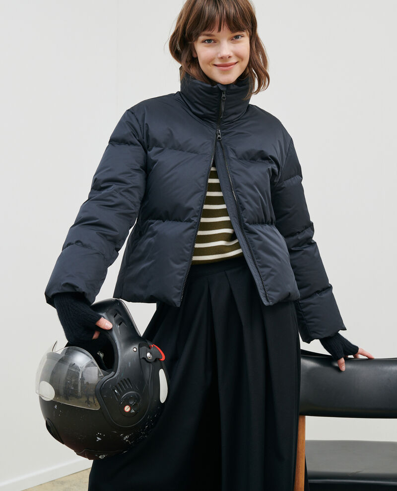 MARGOTTE - Short fitted down jacket Black beauty Maure