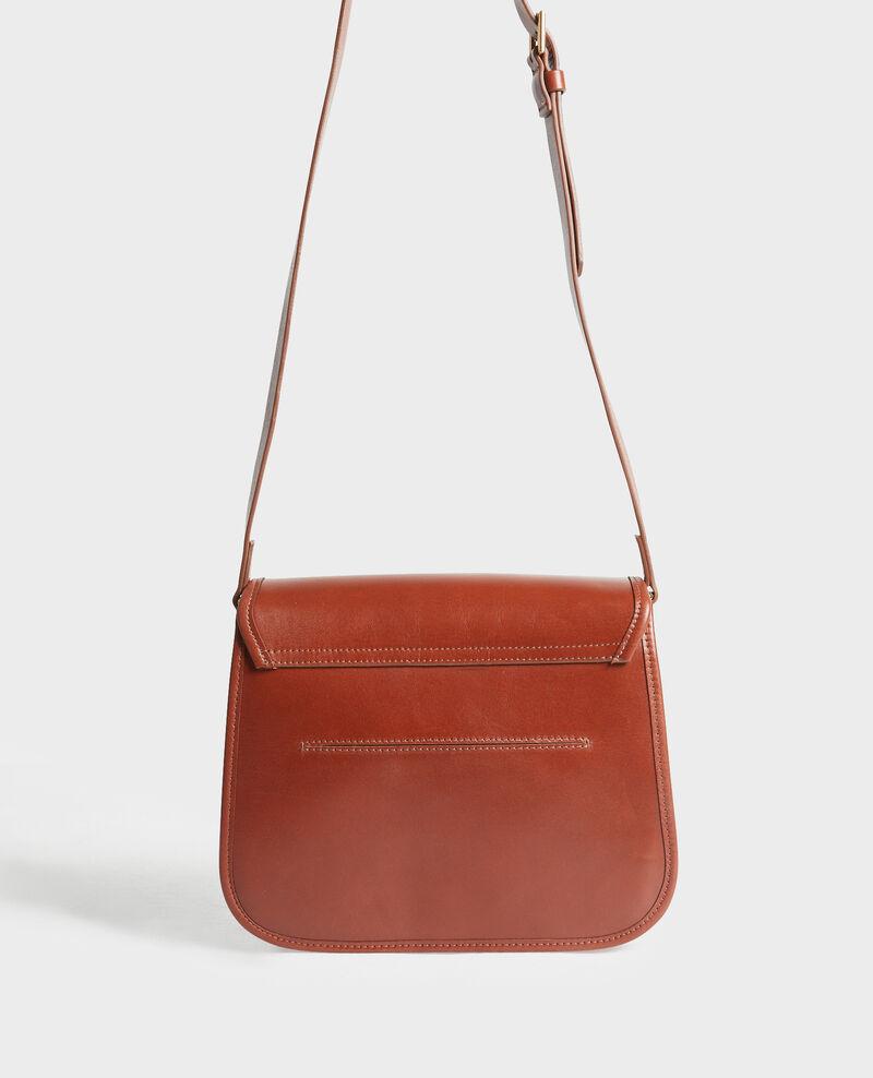 Leather messenger bag Camel Mauriac