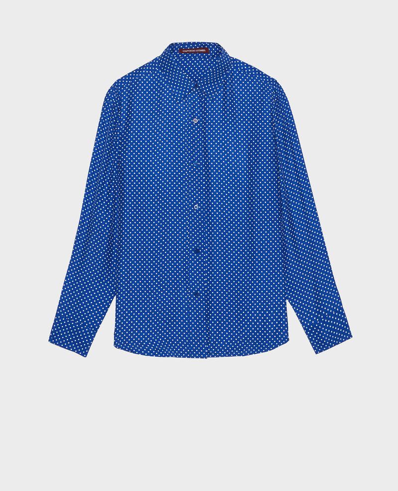 Silk polka dot shirt Little pois surf the web Libalo