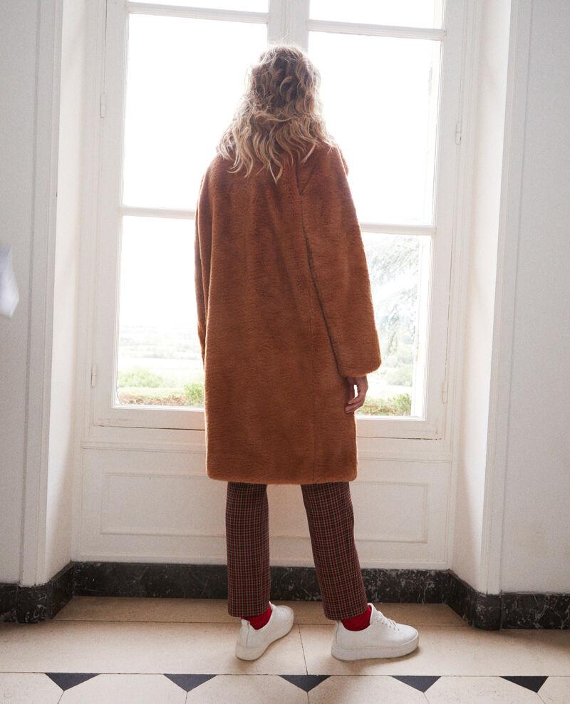 Synthetic fur coat Lion Jaout