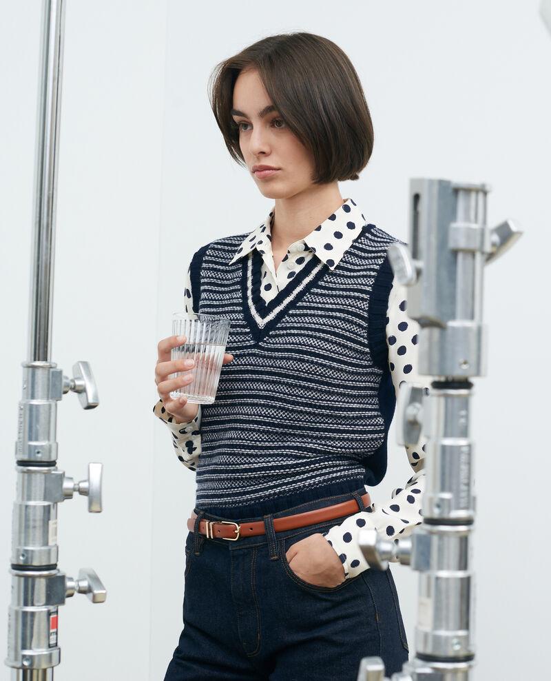 Sleeveless jacquard wool jumper Jaqrd nv Pavilly