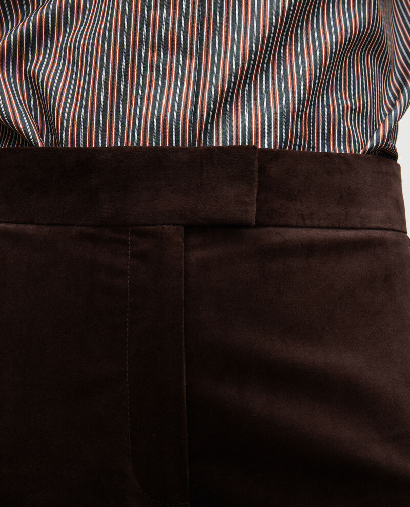 High-waisted 7/8 corduroy flares Coffee bean Marousseau