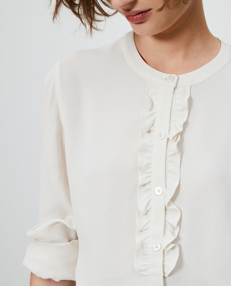 Ruffle front blouse Gardenia Nemours