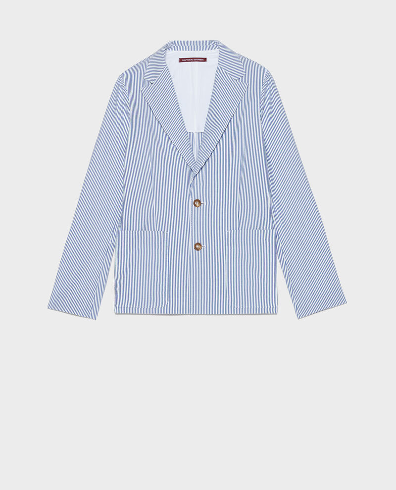Cotton blazer Seersucker stripes Lacaure