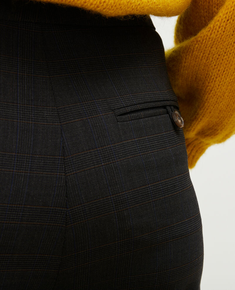 Straight Prince of Wales check wool trousers MARCELLE Check-wool-pattern-tailoring Misabien