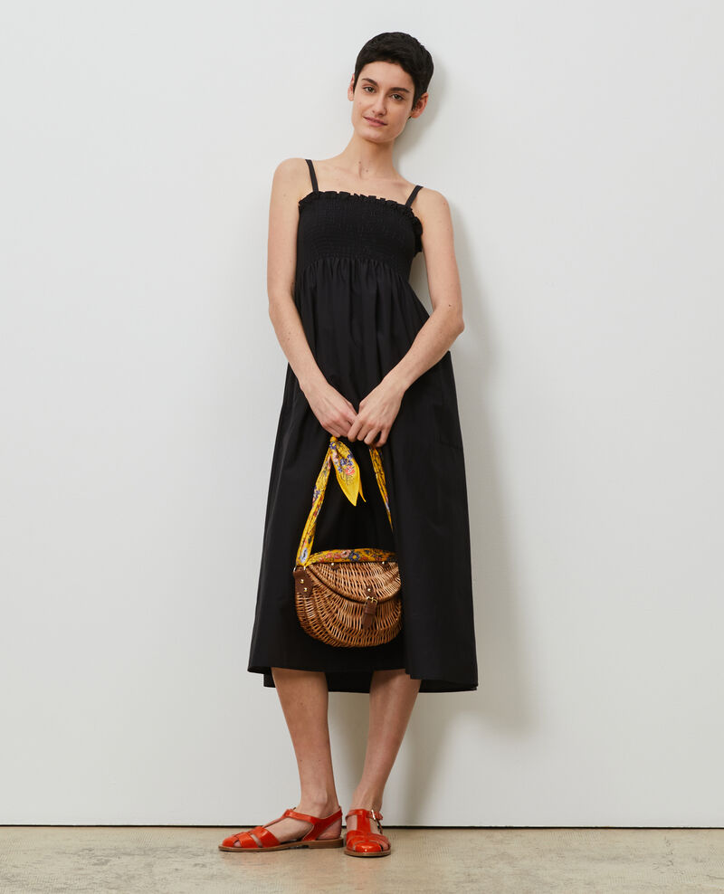 Cotton and silk maxi dress Black beauty Nassandrou