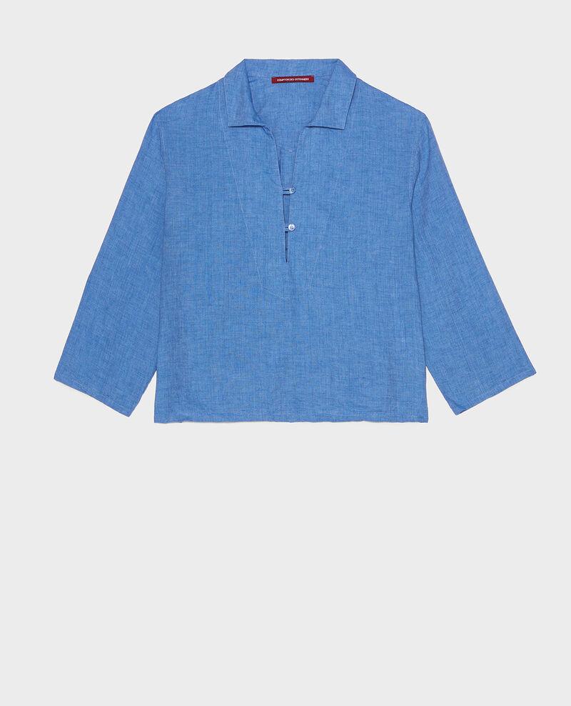 Linen blouse Indigo Lortet