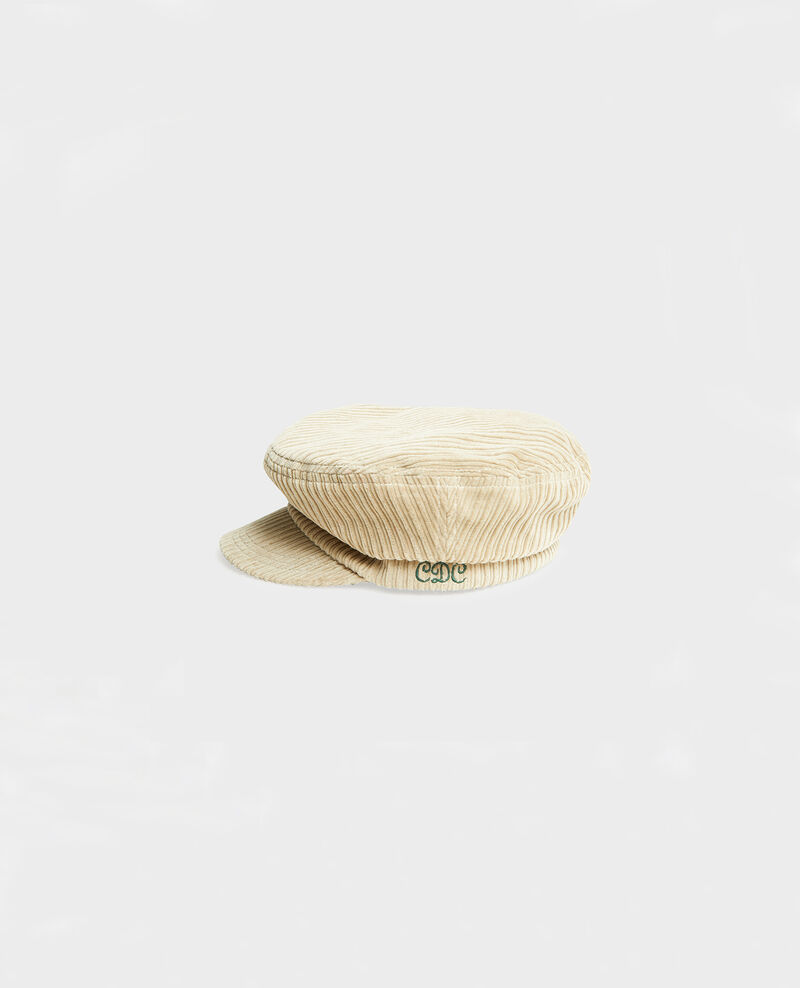 Corduroy cap Light taupe Meonard