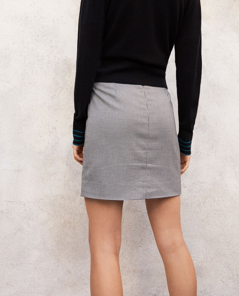 Mini skirt with buckle Noir Izoupe