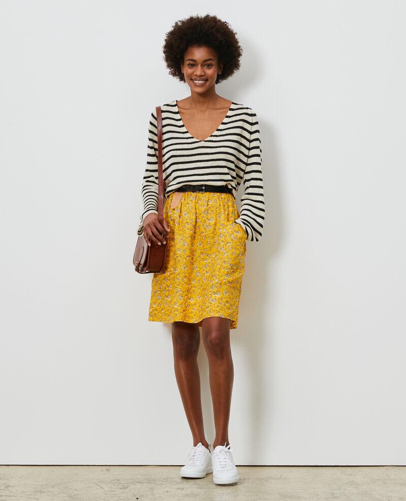 Linen mini skirt Indie-small-yellow Nabios