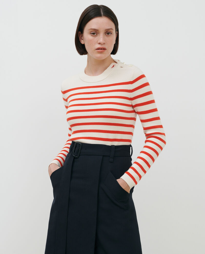 MADDY - Striped wool jumper Stp grdn spicy Liselle