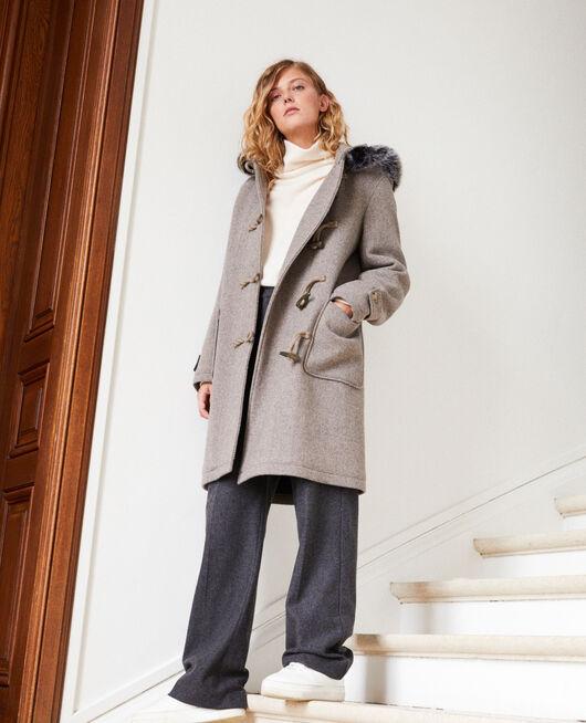 Duffle-coat-type coat GREY/BEIGE