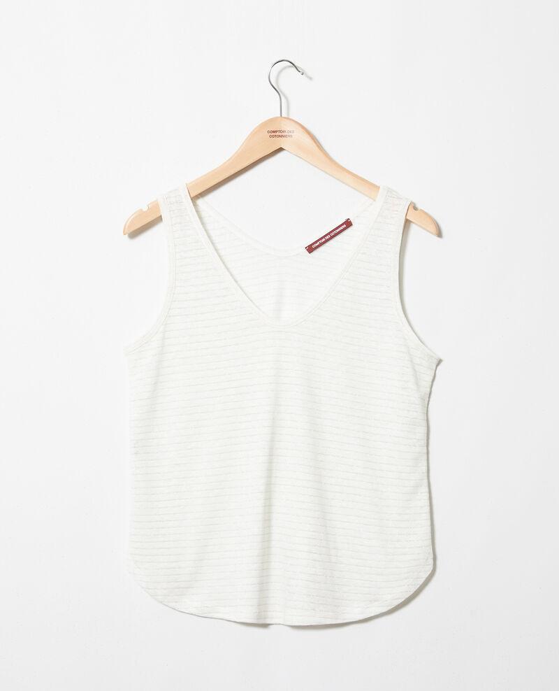 Linen and lurex vest Off white Ivanov