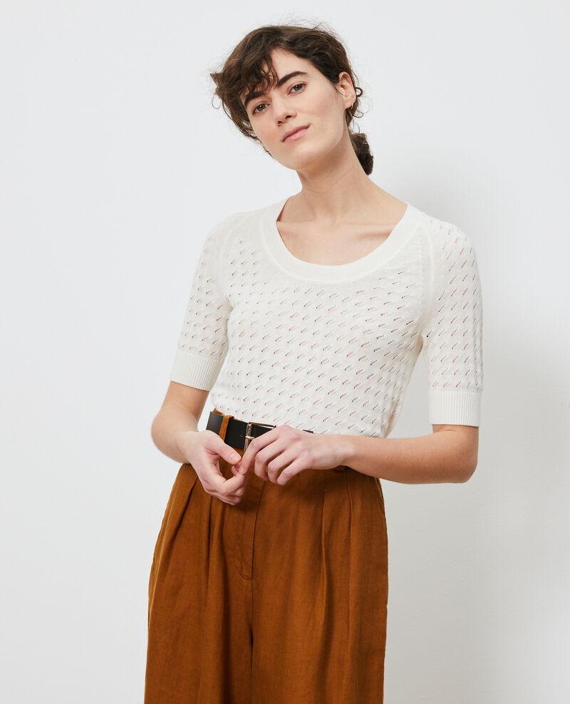 Short-sleeve cotton and linen jacket Gardenia Novileta
