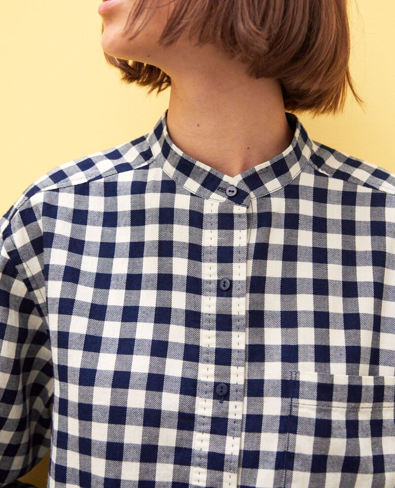 Straight-cut tunic Navy/blanc Ivonnu