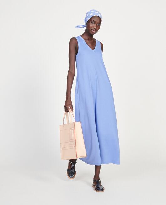 Mercerised cotton maxi dress PERSIAN JEWEL