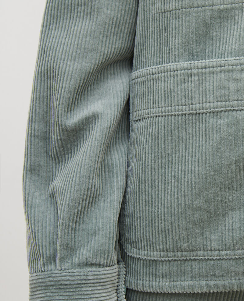 Corduroy work jacket Chinois green Malipine