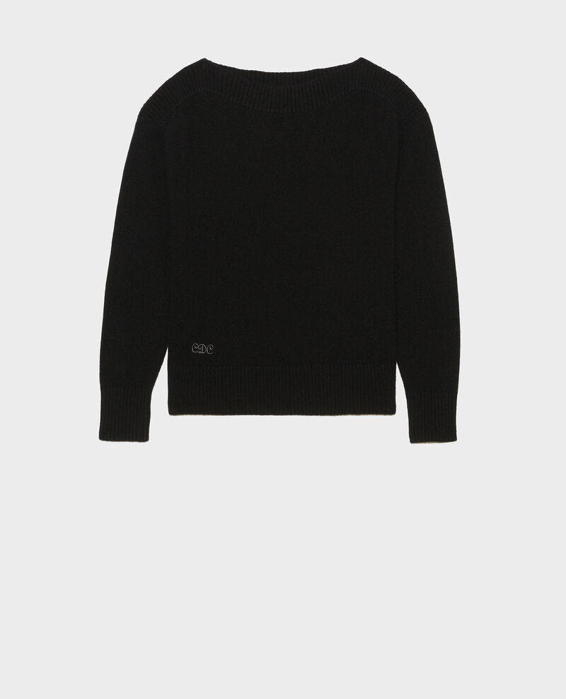 Cashmere boatneck jumper Black beauty Matelot