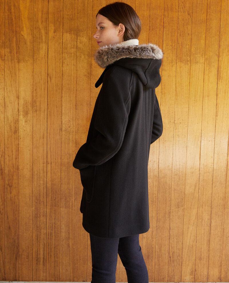 Hooded coat Noir Gustin