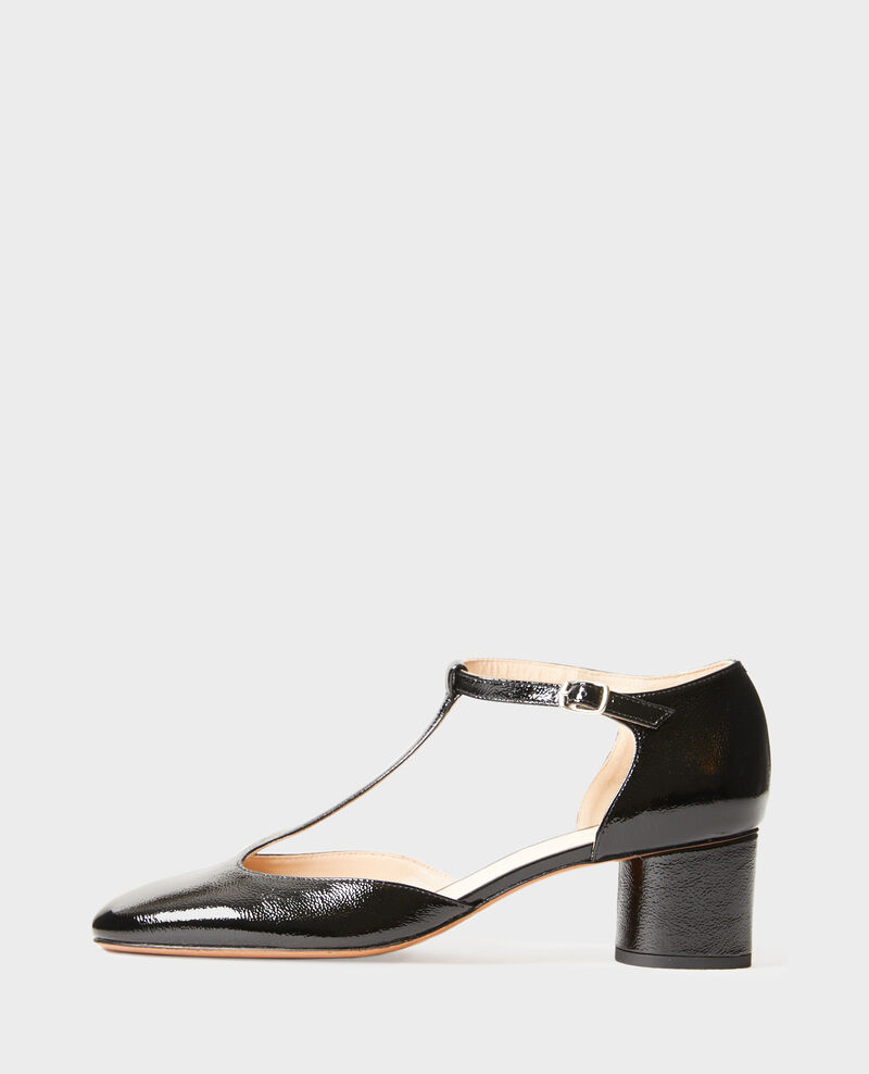Patent leather T-bars  Black beauty Megeve