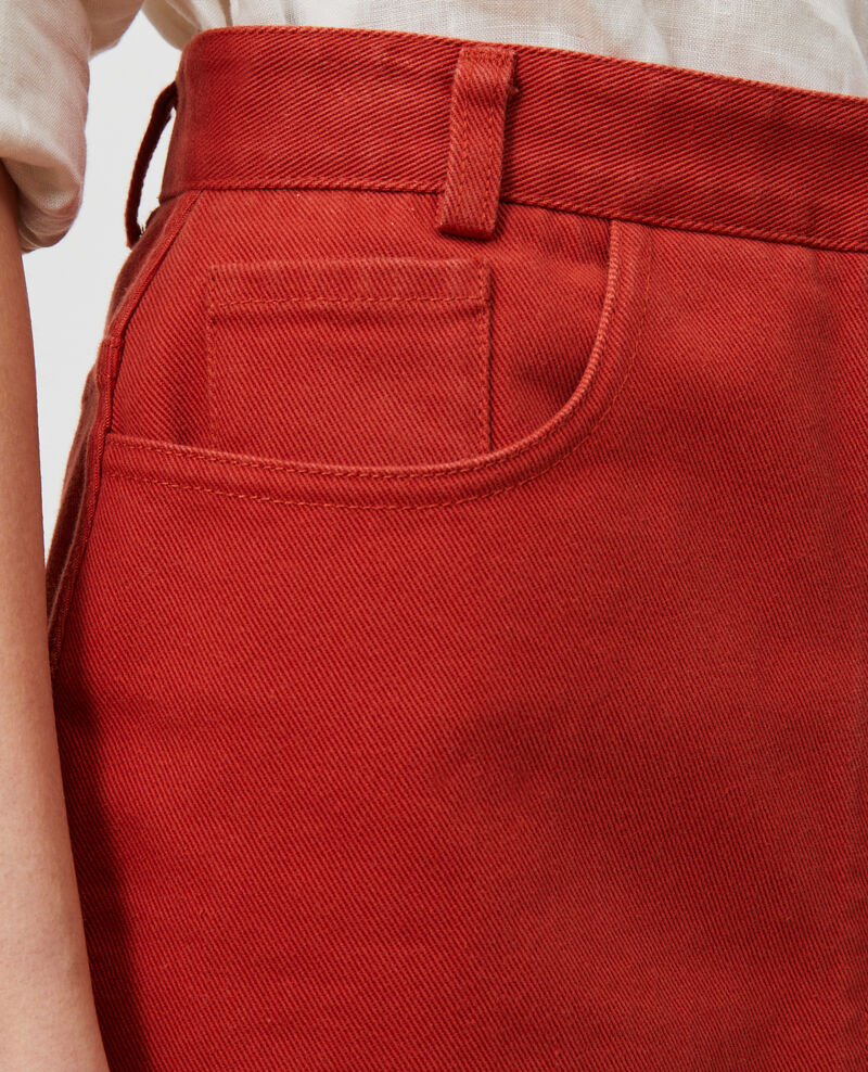 Cotton twill button front skirt Ketchup Naubrac