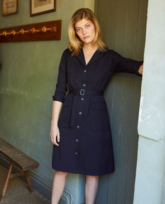 Plunge dress DARK NAVY
