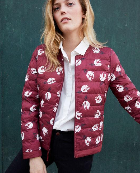 Iconic Mademoiselle Plume down jacket  TULIP CABERNET