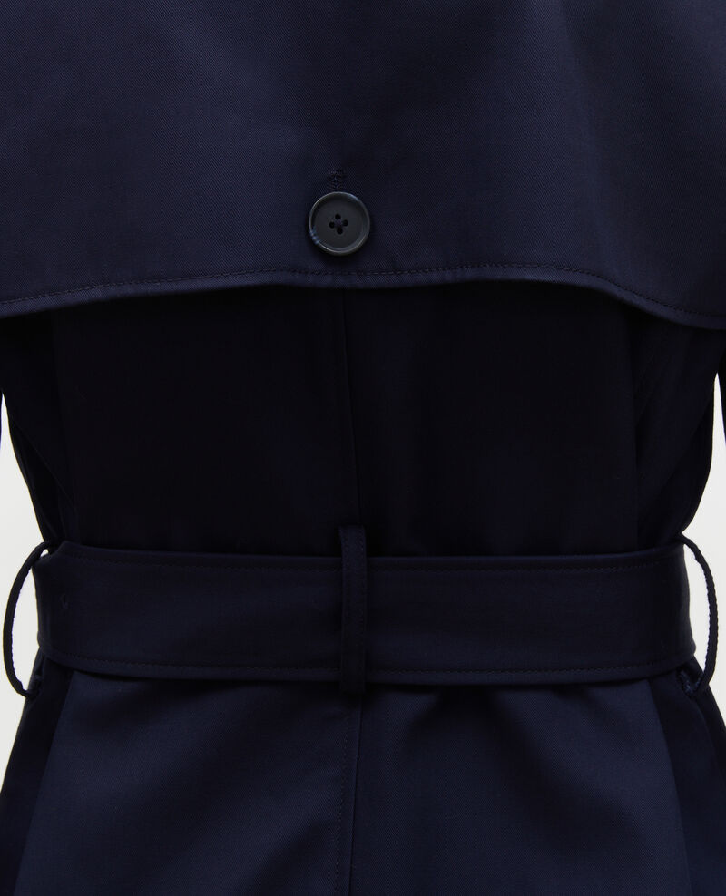 Mid-length cotton belted trench Night sky Mambert