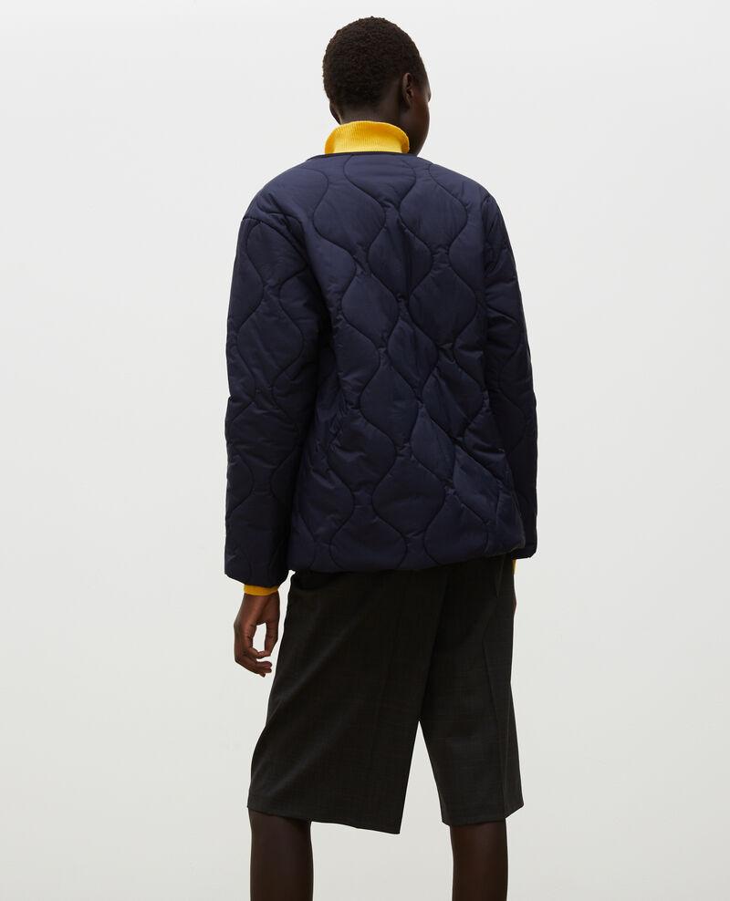 Oversize V-neck down jacket  Night sky Matra