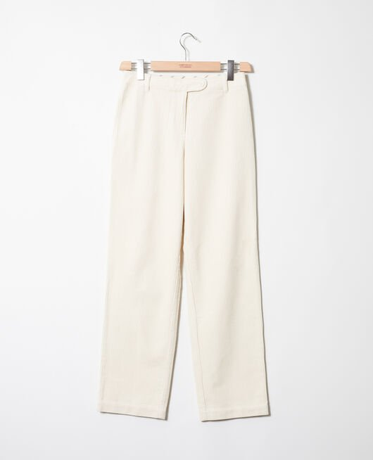 Corduroy trousers OFF WHITE