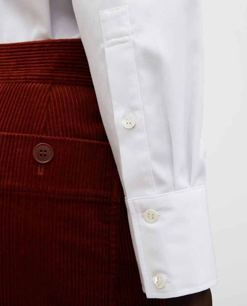 Round neck cotton shirt Brilliant white Mannion