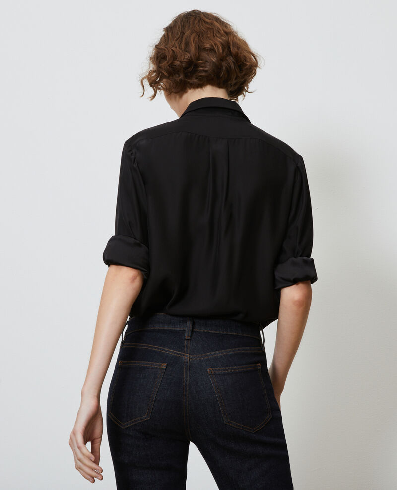 SIBYLLE - Silk shirt Black beauty Loriges
