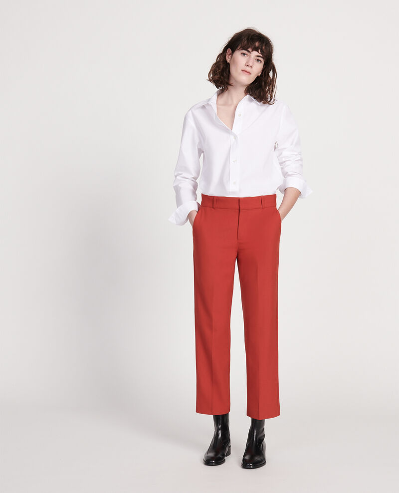 Smooth wool boyfriend trousers Ketchup Lalye