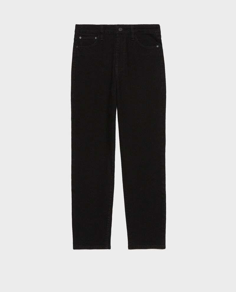 SLIM HIGH RISE - Cropped 5 pocket jeans Noir denim Merville