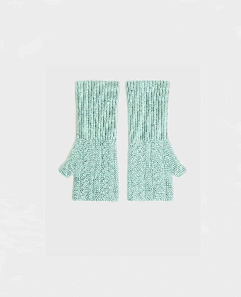 Cashmere mittens Chinois green Mirabel