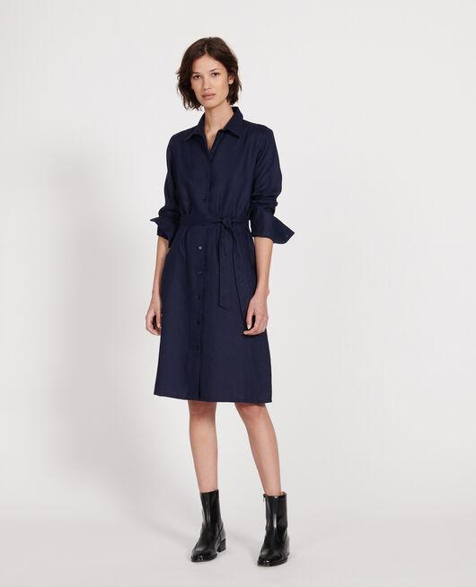 Linen dress MARITIME BLUE