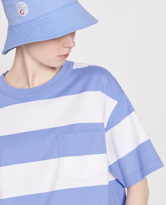 Oversize striped t-shirt STR OPTICALWHITE PERSIANJEWELS