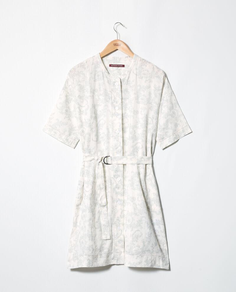 Robe imprimée en lin Bandana blue mirage Ifete