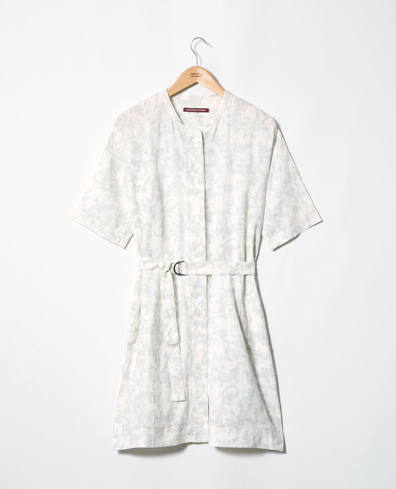 Printed linen dress Bandana blue mirage Ifete