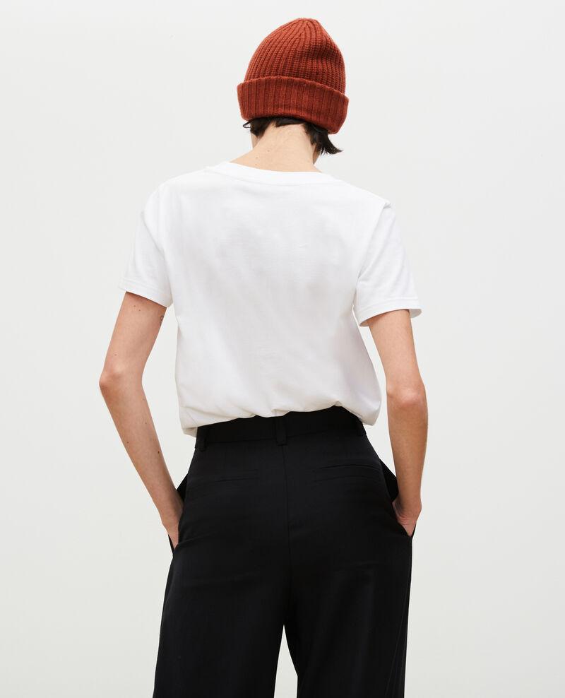 Short-sleeve cotton t-shirt Brilliant white Mara