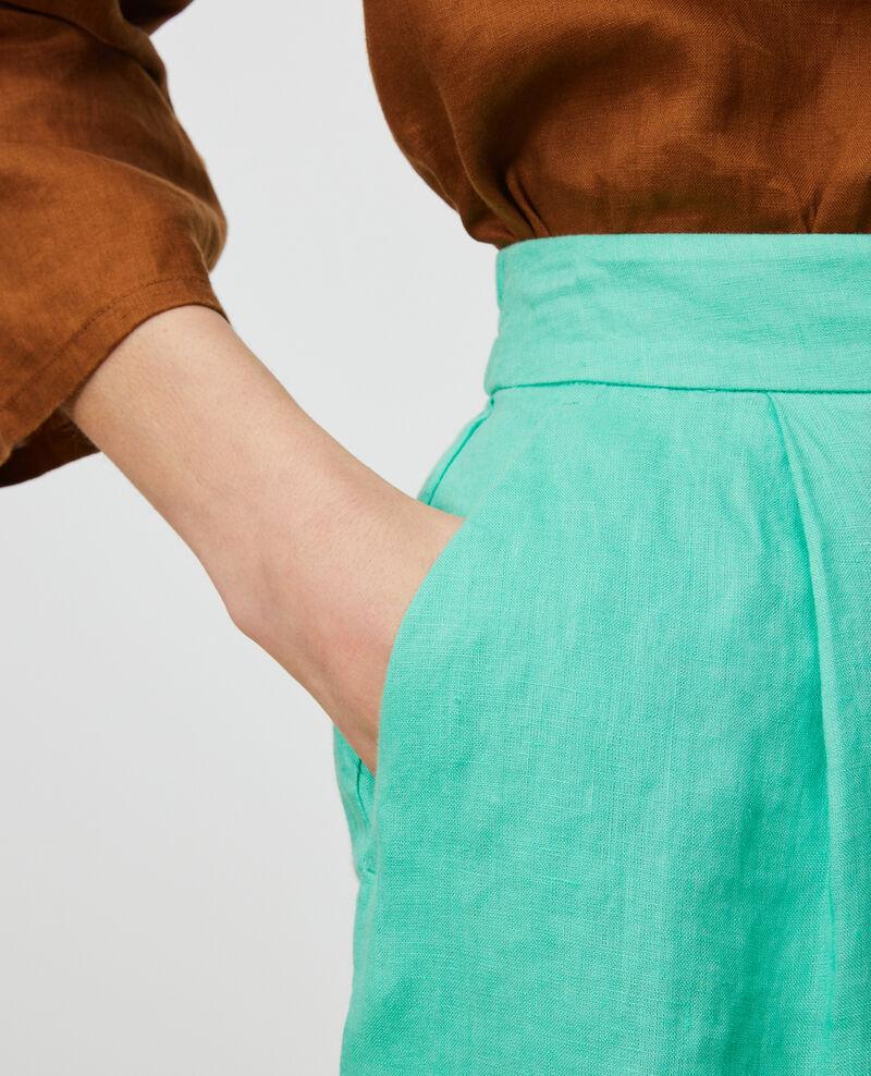 Linen shorts Jade cream Navillien