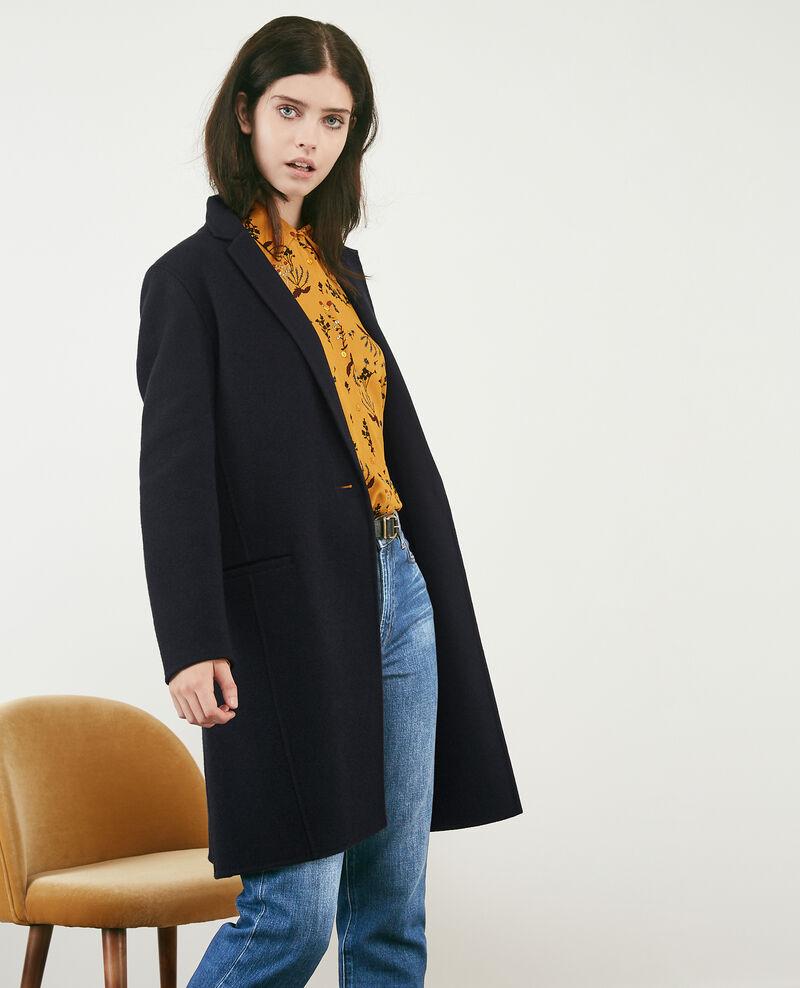Double-faced wool coat Navy Dexpresso